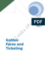 Galileo Fares and Ticketing