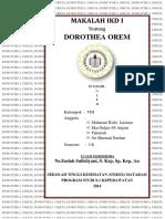 MAKALAH IKD I DOROTHEA OREM.docx