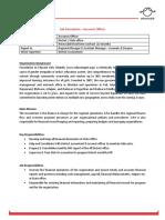 Job Description - Accounts Officer