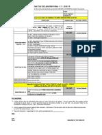 Employee Tax Declaration - AY 2019-20