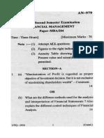 An 979 MBA Sem II Financial Management14