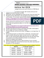 Notice for EVS Project