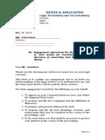 Engagement Letter Blank