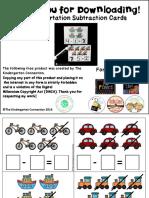 transportation-subtraction-cards