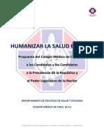 1.-Humanización en Salud. Colegio Médico de Chile.