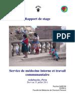 Rapport de Stage Perou PDF