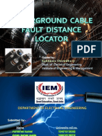 underground cable fault distance locator