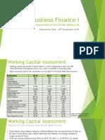 Working Capital Assessment of Eicher Motors Ltd