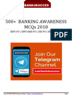 500 Banking Awareness MCQs