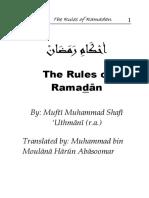 Rules of Ramadan_Mufti Muhamamd Shafi
