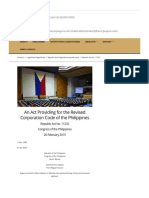 R.a. No. 11232 • Revised Corporation Code of the Philippines • the Corpus Juris