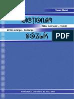 Dicționar Tătar Crimean - Român / Kîrîm Tatarşa - Kazakşa Sózlík TANER MURAT