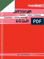 Dicționar Român - Tătar Crimean / Kazakşa - Kîrîm Tatarşa Sózlík TANER MURAT