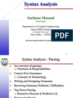 Syntax Analysis Presentation