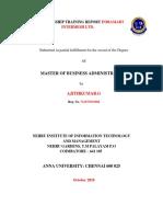 NTERNSHIP TRAINING REPORT INDIAMART INTERMESH LTD.