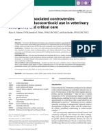 A Reviw of Associated Controversies Surrounding Glucocorticoid Use in Veterinary Emergency Adn Critical Care