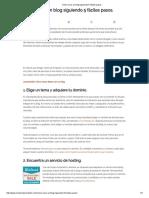 Cómo Crear Un Blog Siguiendo 5 Fáciles Pasos