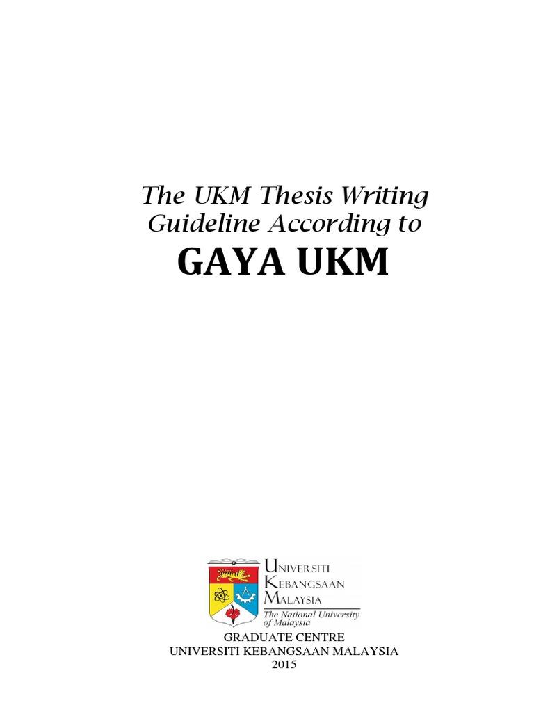 2015 Gaya Ukm En Pdf Thesis Postgraduate Education