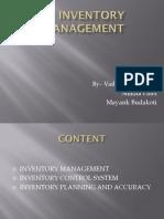 Inventory Management Mayank