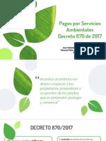 Pagos Por Servicios Ambientales - Decreto 870 de 2017