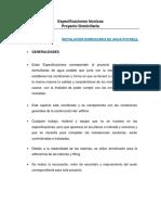 Especificaciones Tecnicas Agua Potable y Alcantarillado