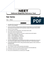 Mock test 6 NEET