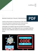 Blockchain Tutorial _ How to Become a Blockchain Developer_ Cram Session! - Blockgeeks