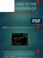A presentation on Mean Value Theorem