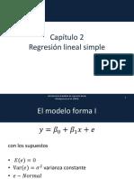 Cap 2 Regresión Lineal Simple