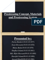 Types and Equipments for Prestressing