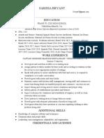 sarissa bryant resume