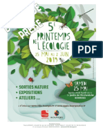 Programme du printemps de l'écologie 2019