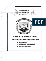 Comité de Vigilancia de Presupuesto Participativo - Municipalidad Distrital ASIA