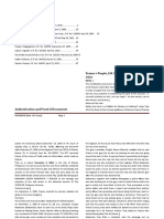 Rule 132 Authentication and Proof of Docments Cases.docx