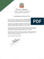 Mensaje de felicitación del presidente Danilo Medina con motivo del Día de las Enfermeras 2019
