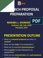 10.27-28 2. Research Proposal Preparation