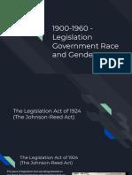 1900-1960 legislation