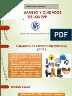 Uso, Manejo y Cuidados de Los Epp