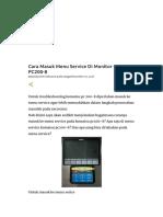 Cara Masuk Menu Service Di Monitor Komatsu PC200-8