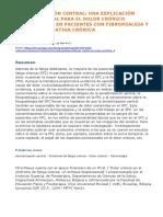 Sensibilización Central_ Una Explicación Biopsicosocial