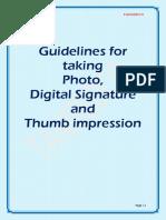 Signature guidelines