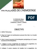 Pathologie de l'Hémostase