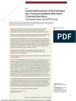 Association of Statewide Implementation of the Prehospital Traumatic Brain Injury Treatment Guidelines With Patient Survival Following Traumatic Brain Injury