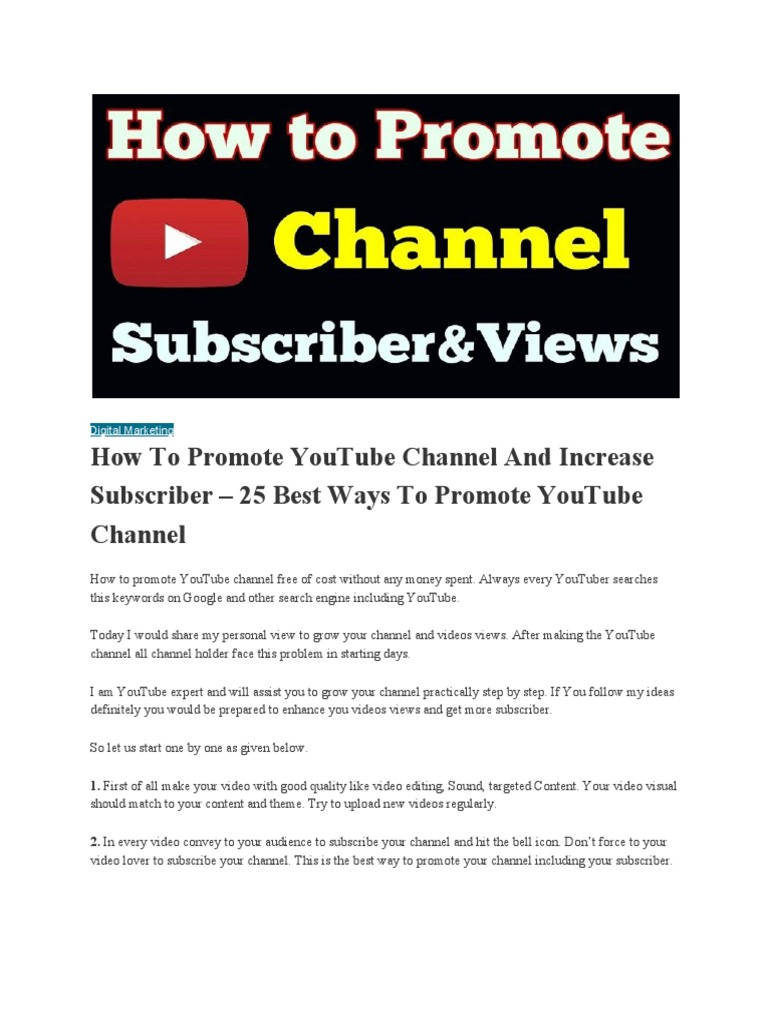 How to Promote Youtube Channel | You Tube | Search Engine