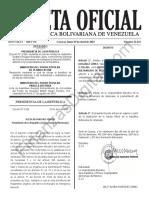 Gaceta Oficial 41622 Sumario