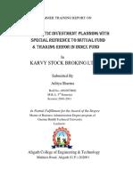 Summer Internship project on SIP Mutual Fund.docx
