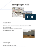 Concrete Diaphragm Walls