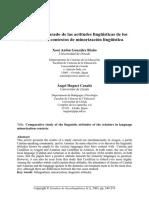 Estudio comparado de las actitudes lingüísticas de los escolares en contextos de minorización lingüística- González y Huguet