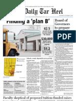 The Daily Tar Heel for November 4, 2010