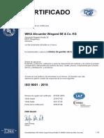 Certificado de Calidad Wika